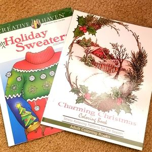 Christmas-themed Adult Coloring Books